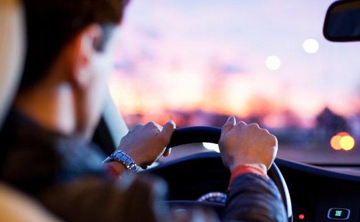 Chauffeur driving
